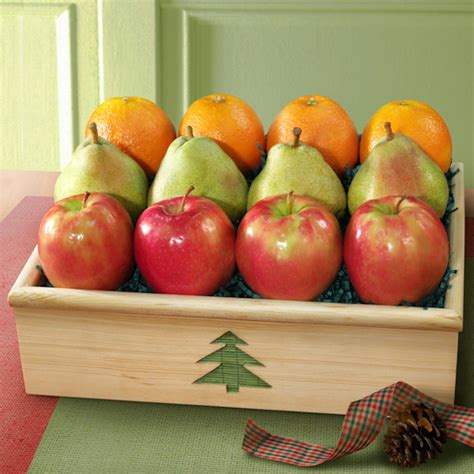 christmas fruit gift crate all about gifts baskets