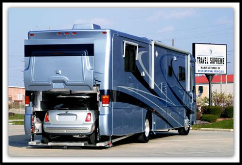 rv with car garage spartan travel supreme me a revolutionary mid engined rv