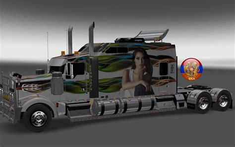 kenworth w900 parts kenworth w900 long metallic long style 10 16 skins 1 26 4