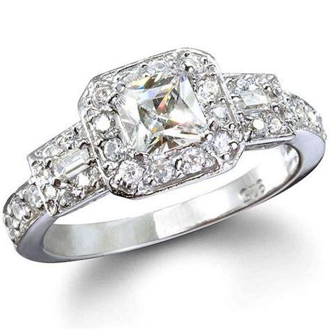 princess cut vintage style engagement ring 1 25 carats