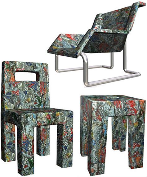 furniture recycling amir zinaburg s recycled designs can can green prophet
