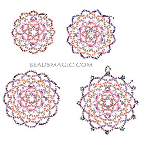 free beading patterns free pattern for beautiful beaded pendant fair magic
