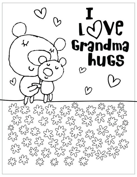 printable coloring pages for grandma free printable mothers day coloring pages