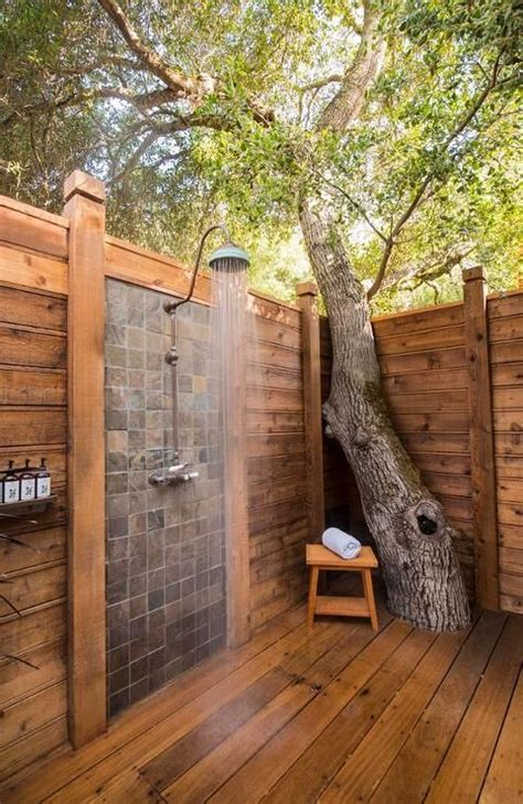 outdoor shower privacy outdoor privacy shower built around tree outdoor spaces