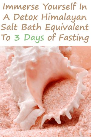 Detox Bath For Fever by Himalayan Salt Bath Refresh Your