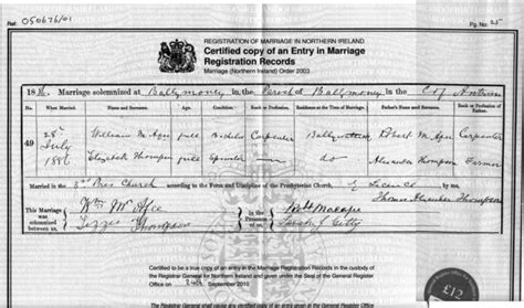 full birth certificate belfast civil records of birth deaths and marriages
