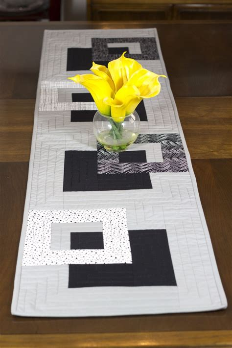grey and white table runner modern table runner black white and grey wallhanging bed
