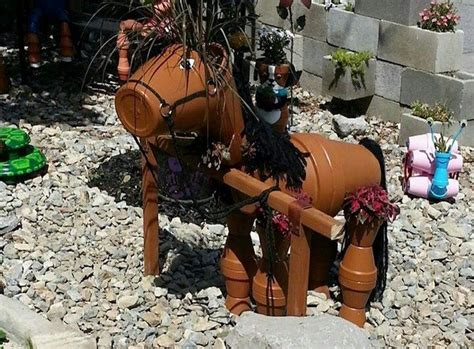 what can you make with pony decorate your garden by this clay flower pot