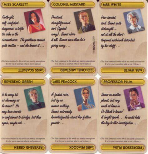 Suspects Original Board uk cluedo boardgame 2000 edition