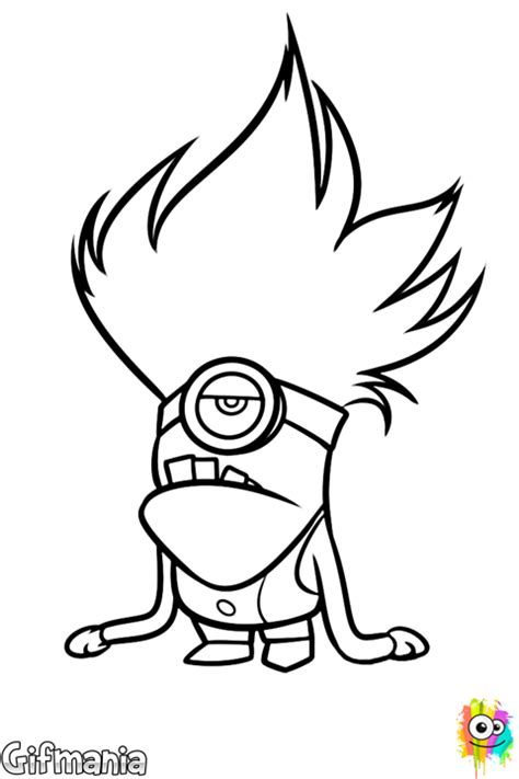 Purple Minion Coloring Pages evil minion coloring page