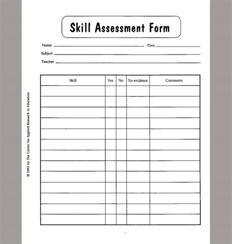 skills assessment template product skill capacity 169 is a user customizable mobile skills