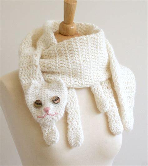 Handmade Scarves Patterns - animal scarf crochet patterns ooak animal scarves make