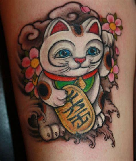 tattoo cat lucky lucky cat tattoo by chris crooks the world of kitsch
