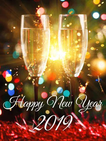 new year 2019 sparking happy new year card 2019 birthday greeting
