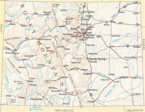 colorado mountains map colorado zone maps