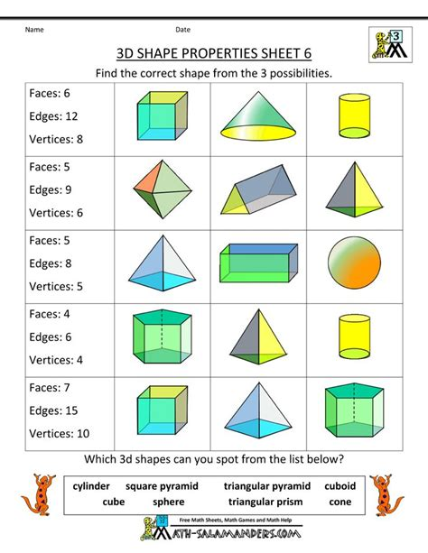 best 25 2d and 3d shapes ideas on 3d shapes activities 3d shapes and 3d shapes best 25 3d shape properties ideas on 2d shape properties geometry worksheets and