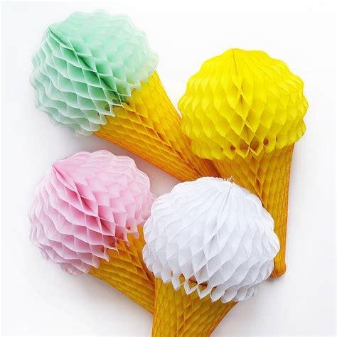 Ice cream cone tissue paper decoration by peach blossom notonthehighstreet com