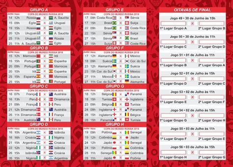 tabela copa do mundo 2018 vetorizada corel draw r 8 90