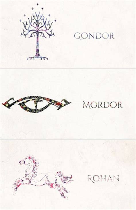 symbols of middle earth the hobbit amp the lord of the