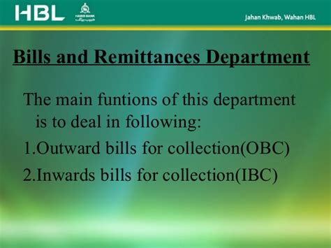 Letter Of Credit Hbl Presentation On Hbl Ppt