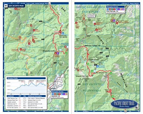 pacific crest trail california sections pacific crest trail pocket atlas pacific crest trail map