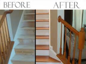 Changing Stairs From Carpet To Wood by Converting Carpeted Stairs To Hardwood