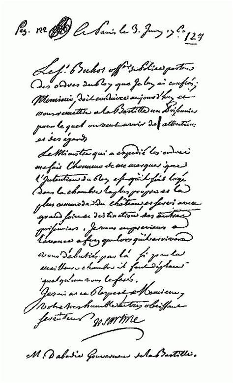 Lettre De Cachet De Louis Xiv De Letters De