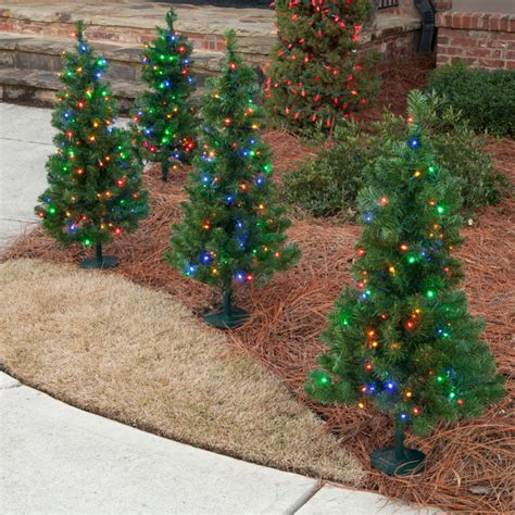 walkway trees outdoor holiday decorations atlanta by