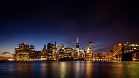 manhattan night in new york city 4k wallpapers 4k new york wallpaper wallpapersafari