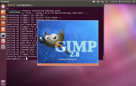 tutorial tc linux install gimp 2 8 on ubuntu 12 04 precise pangolin ubuntu