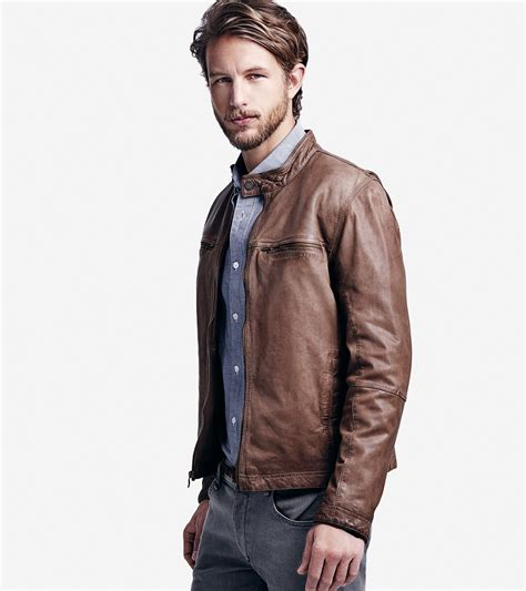 mens moto jacket mens brown leather moto jacket jackets review