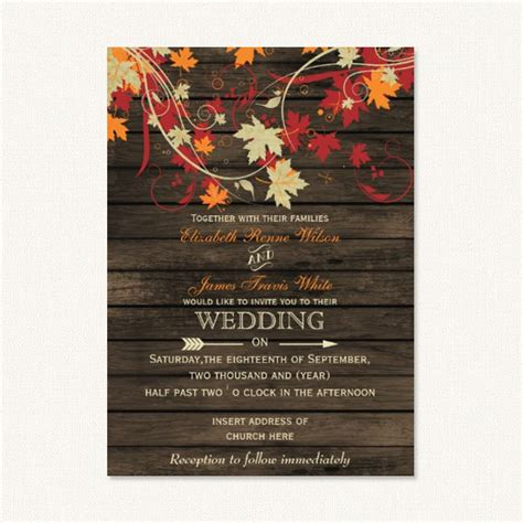 Unique Fall Wedding Invitations by Fall Rustic Wedding Invitations With Barn Wood Colorful