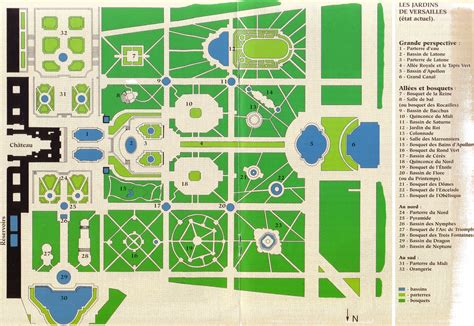 How To Do A Floor Plan In Word by Plan Du Parc De Versailles Andr 233 Le N 244 Tre