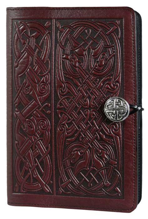celtic design leather journal celtic hounds leather journal by oberon design fairyglen com