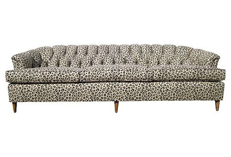 Animal Print Couches by Tufted Leopard Print Linen Sofa