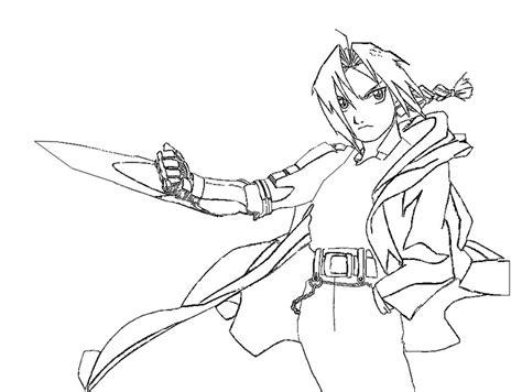 coloring page manga full metal alchemist 1