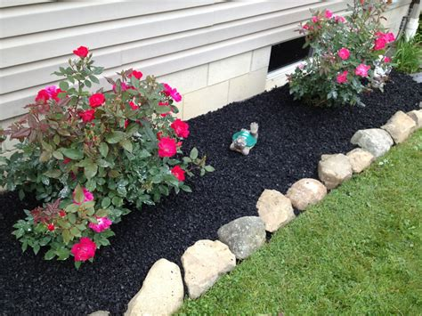 how to mulch a flower bed can rubber mulch prevent weeds in my flower bed rubber