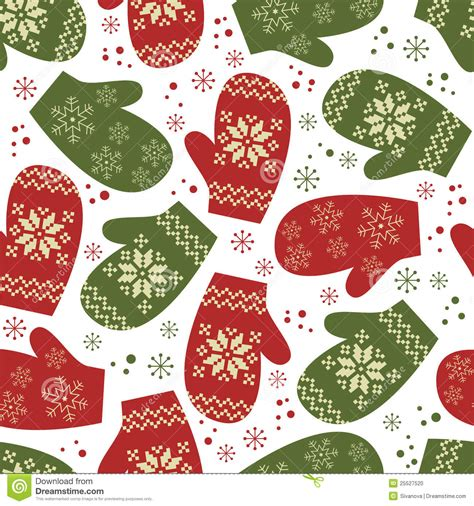 christmas pattern seamless christmas seamless pattern with winter mittens stock photo