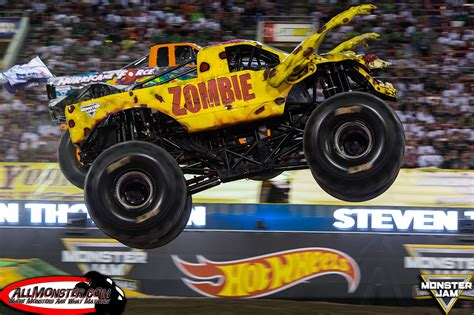 zombie monster jam truck yellow zombie hurricane force monster trucks