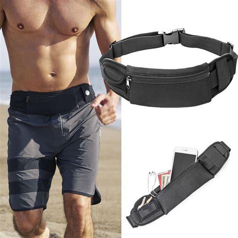 Running Waist Belt Bag Tas Pinggang Sport waterproof sport waist belt bum pouch pack cing running hiking zip bag 616929749977 ebay