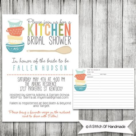 kitchen invitation cards templates 6 best images of bridal shower invitations printable