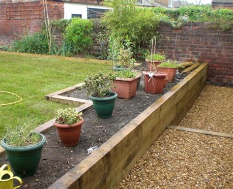 Sleeper Flower Beds by Sheffield Builder Landscaper Gallery Images Of Houses And