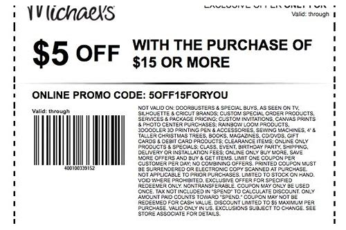 printable coupons michaels craft store