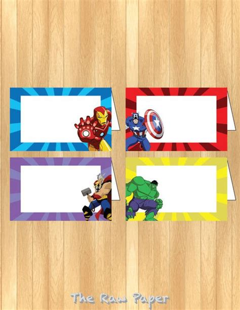 Label Book Avenger instant the food tent by therawpaper on etsy jonathan s birthday