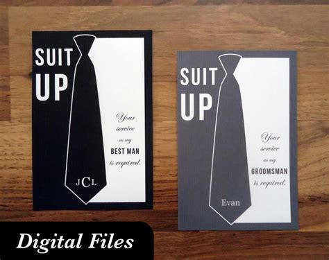 printable man card will you be my groomsman card printable digital files