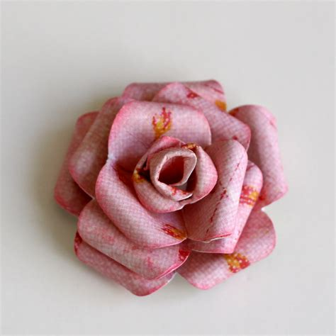 How To Make Roses From Paper - cohen prima layout and paper flower tutorial