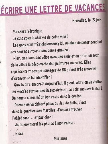Exemple De Lettre En Vacances Nico1 Eoisanroque 233 Crire Au Niveau 233 L 233 Mentaire