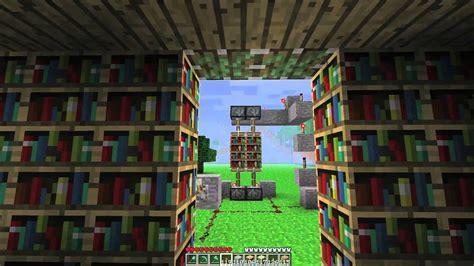 minecraft   build  hidden door   bookshelf youtube