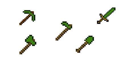 Minecraft Papercraft Weapons - minecraft emerald weapons by gonnastole on deviantart