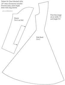 barbie dress patterns free printable